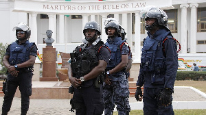 File photo of Ghana police men
