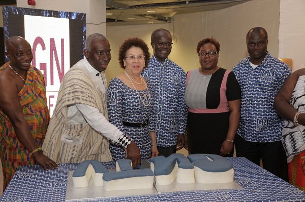 Dr. Nduom with others inauguration the new TV station in UK