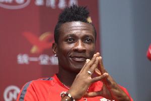 Black Stars striker Asamoah Gyan