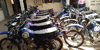 The motorcycles which were given to the extension officers in Sissala