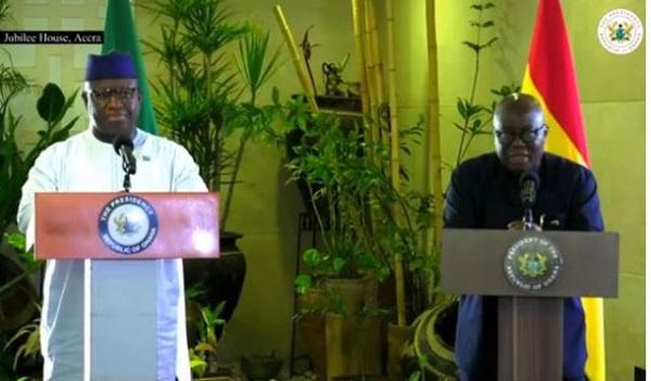 Sierra Leonean Leader Julius Maada Bio and President Akufo-Addo