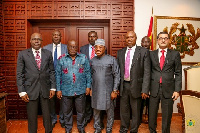 President Akufo-Addo with the delegation from the ETLS