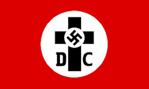 File photo: A swastika embedded in a cross