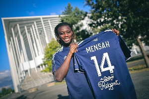 He will play number 14 after completing his move to French Ligue 1 side Girondins Bordeaux