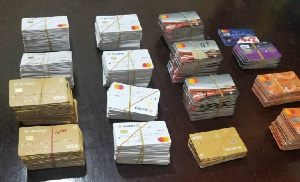 The ATM cards which were retrieved from the suspect