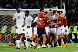Egypt defeated Ghana to win the 2010 AFCON