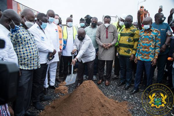 President Nana Addo Dankwa Akufo-Addo at the sod cutting ceremony