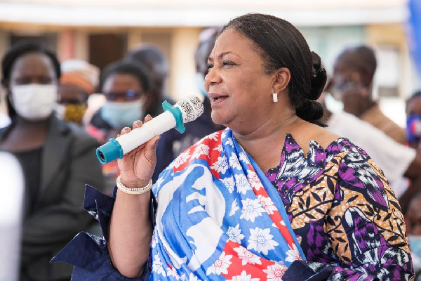 First Lady campaigns in Ablekuma North Constituency