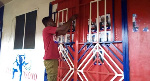 A rampaging group of NPP supporters have locked up the Apedwa officer of the party