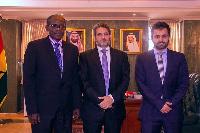 Ambassador Meshal Hamdan Al-Rogi (middle)