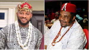 Yul and his father Pete Edochie
