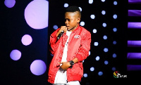 Winner of TV3 Talented Kidz Season IX Samuel Owusu