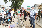 Greater Accra Minister sacks hawkers on pavement at Kantamanto