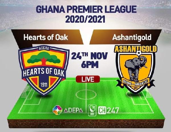 LIVE UPDATES: Hearts of Oak vs Ashantigold