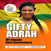 Aspiring Member of Parliament for the Anlo Constituency, Gifty Adrah