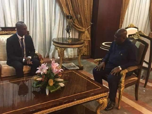 Kwesi Appiah in a previous meeting with the president