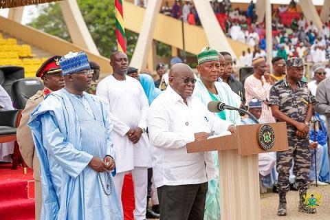 President Akufo-Addo was speaking to the Muslim community