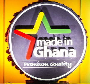The Made-in-Ghana logo was launched in April 2015