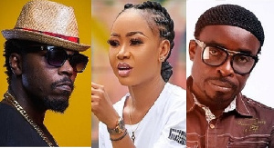 Combination photo (L - R) Kwaw Kese, Akuapem Poloo and late Dasebre Gyamenah