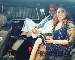 E-Money with his wife, Juliet Okonkwo