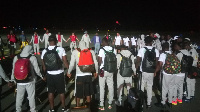 The Ghanaian national team gathered to offer a word of prayer to God for journey mercies.