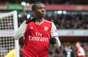 Eddie Nketiah helped Arsenal win the FA Cup last weekend