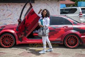 Nana Ama McBrown's BMW