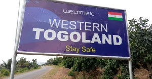 Western Togoland billboards were mounted at different parts of the Volta Region