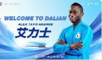 Alex Tayo Akande will play alongside Boateng in the Dalian Yifang attack
