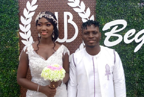 William Opoku Mensah with his wife Rebecca Krah