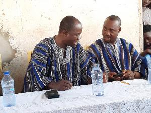 The Defeated aspirant  Alhaji Abdulai Haruna (Right),  and Thomas Donko Ogajah(Left) incumbent