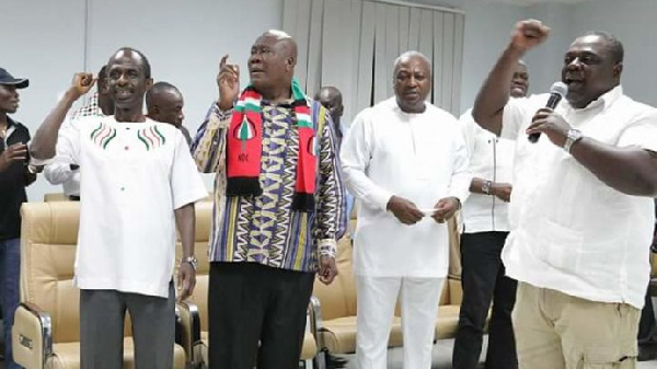 Some NDC party executives with the former President John Mahama