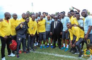 President Nana Akufo-Addo with the Black Stars