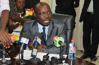 Cassiel Ato Forson addressed the press ahead of the presentation of the 2018 budget