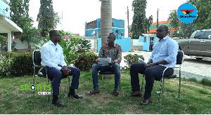 Host Daniel Oduro, Saddick Adams and Jerome Otchere