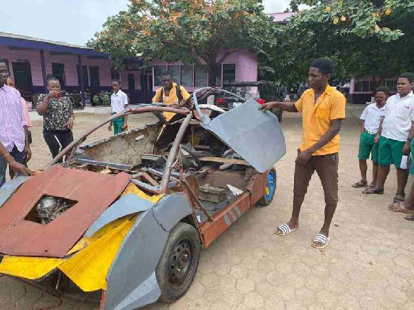 18-year-old BECE graduate invents car