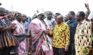 Overloard of Nanung Kingdom and President Akufo-Addo