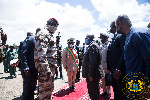 President Akufo-Addo is leading a delegation in his capacity as Chairperson of ECOWAS