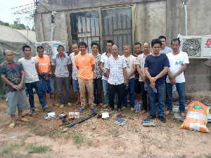 The Chinese illegal miners were apprehended in the Juabosu District