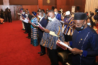 New envoys take thir oath of office at the presidency in Accra