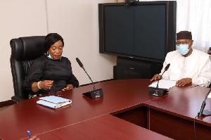 Dr Mohamed Ibn Chambas, Special Representative, UN Secretary-General and Shirley Ayorkor Botcwey