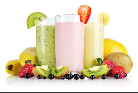 Smoothies made from a variety of fruits.