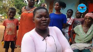 Nancy Kyeraa who is now eighteen years old says she grew up at Dambai in the Oti Region