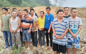 The arrested Chinese nationals