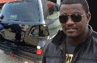 John Dumelo is alleged to have 'stolen' a state vehicle