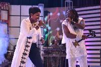 Akosua Agyepong performing with Amanzeba (Facebook)