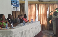 Alex Segbefia speaking at the opening of the newborn stakeholders forum