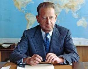 Former Secretary-General of the United Nations, Dag Hammarskjold