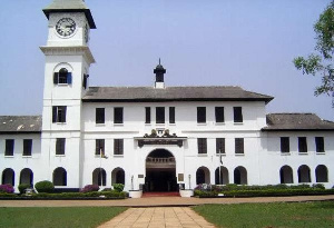 File photo of the forecourt of Achimota School administration block