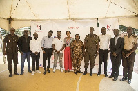 Dj Mensah in a group picture with other celebrities who were present